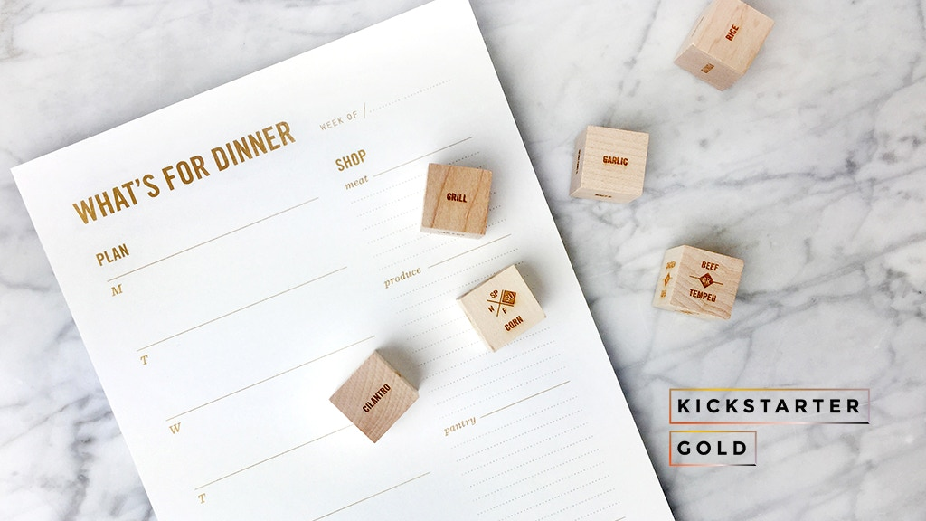 Kickstarter Gold: What's For Dinner Notepad project video thumbnail