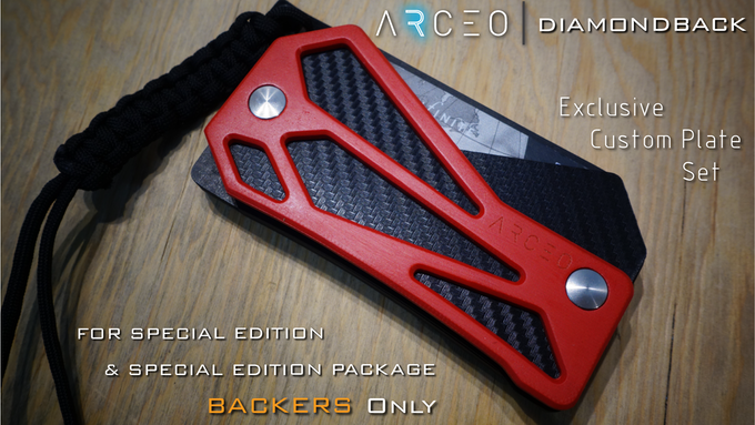 "New ""Diamondback"" custom plate design available for Special Edition Backers!"