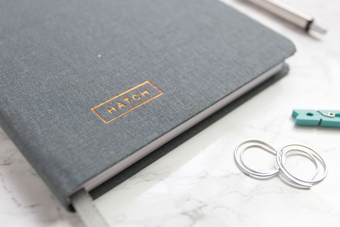 More than just a notebook—a simple system to help you take your ideas from concept to reality.