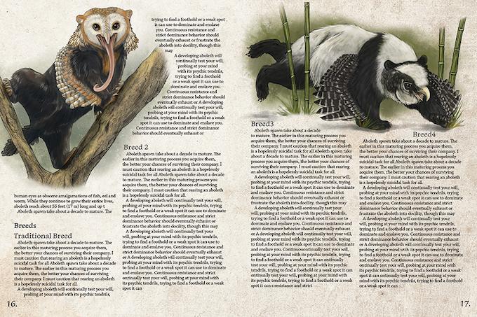 Interior Mockup Spread of the Owlbear