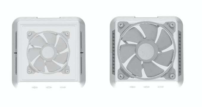 Size of the fan has been increased for 40% more air purifying!