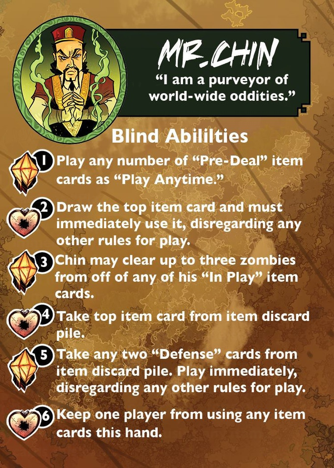 Chin's, Blind Abilities