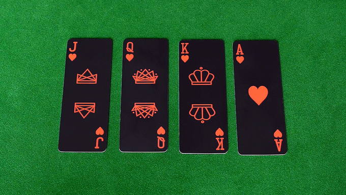Jack, queen, king and ace of hearts.