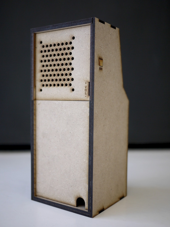 Backside of the MDF Micro Arcade Cabinet