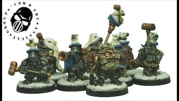 TAG - 28mm Dwarf Empire Bear Knight Miniatures
