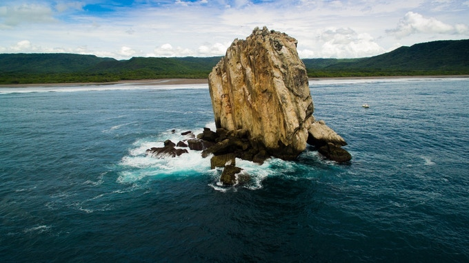 Famous surf spot Witches Rock, Sector Marino, ACG. Photo by Christian Schmidt