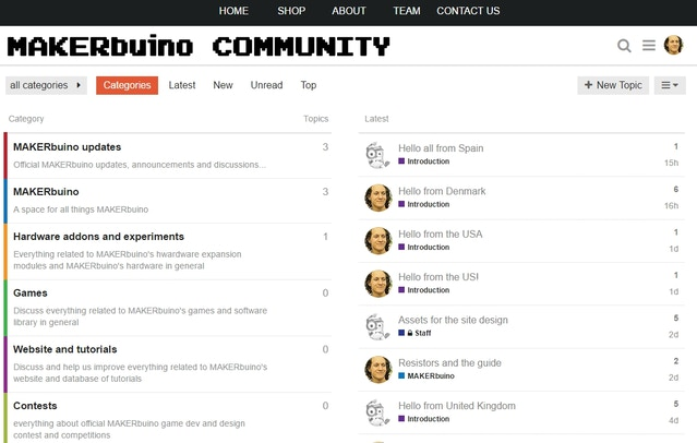 it's all brand new and pretty, powered by the latest version of Discourse