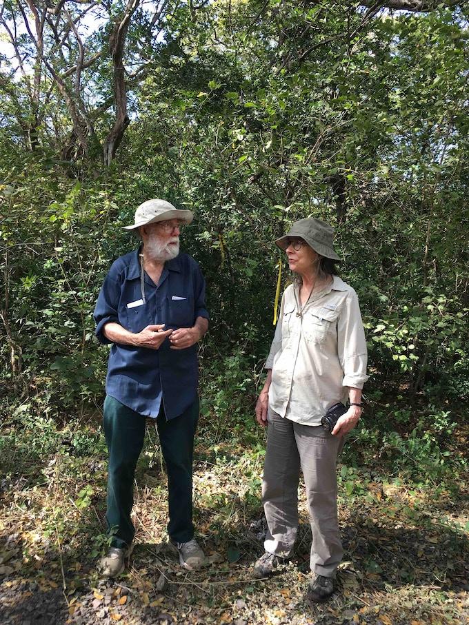 Dr Daniel Janzen and Dr Winnie Hallwachs describing how this part of ACG forest was restored