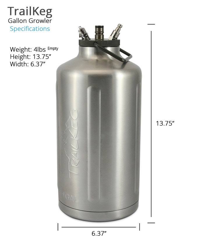 TrailKeg Gallon Specifications