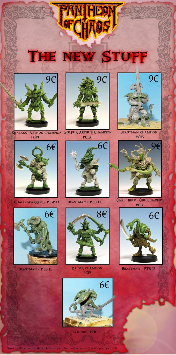 The new miniatures!