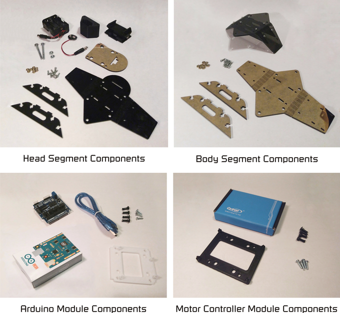 Complete Make-A-Pede Kit contains more than what is shown here.