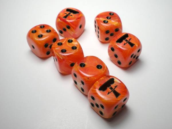 Mock-up of the Tiny Wastelands Dice!