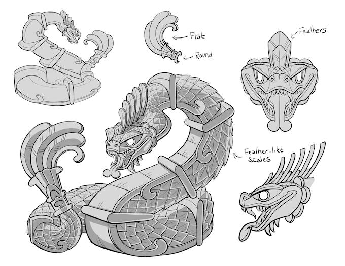 Tetlcoatl, the Stone Serpent - $20