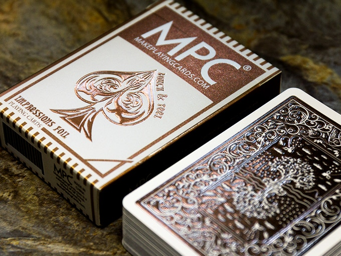 The Impressions Bronze Edition playing cards