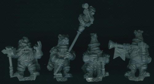 DEM074 Dwarf Bear Knight Command on foot