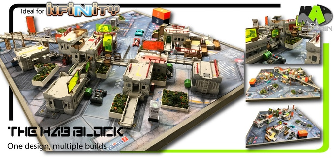 The Hab Block - Phase II 28mm modular Wargaming Terrain by Mad