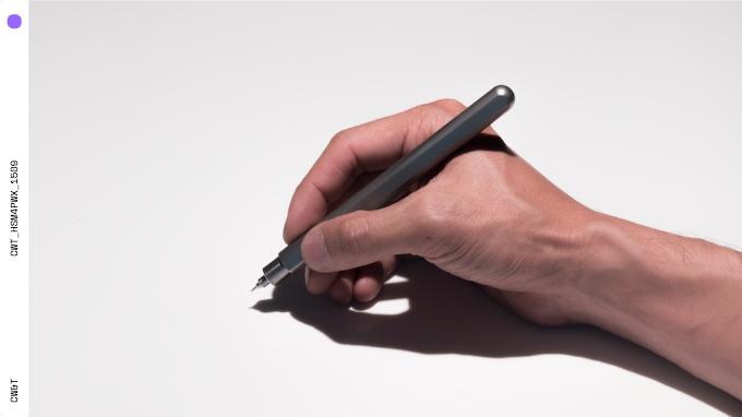 Titanium Pen Type-B : in use