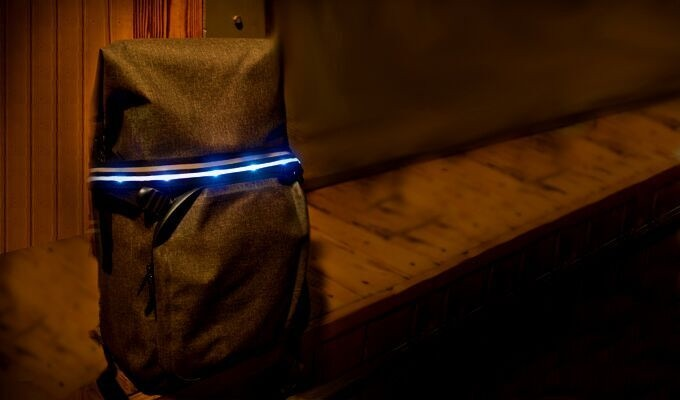 The Crossbelt conveniently attaches to your backpack to provide maximum illumination.