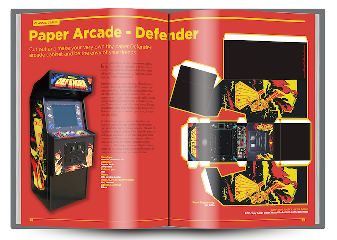 (The legend that was Paper Arcade - you'll get links to PDF versions too, so there's no ruining of the book required!)