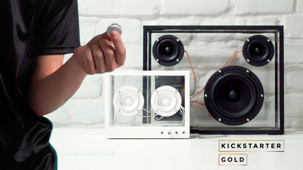 Wireless Transparent Speakers with Flic Button project video thumbnail