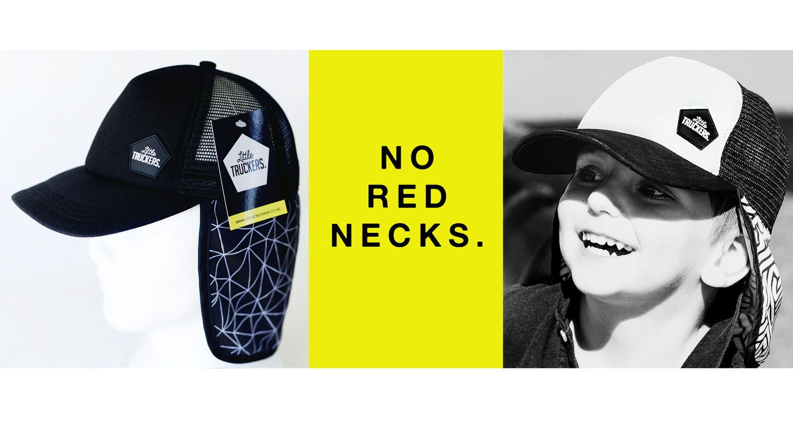 f6cc0f56b0d Protect little ears   necks with Little Truckers. Designed with neck ear  flap