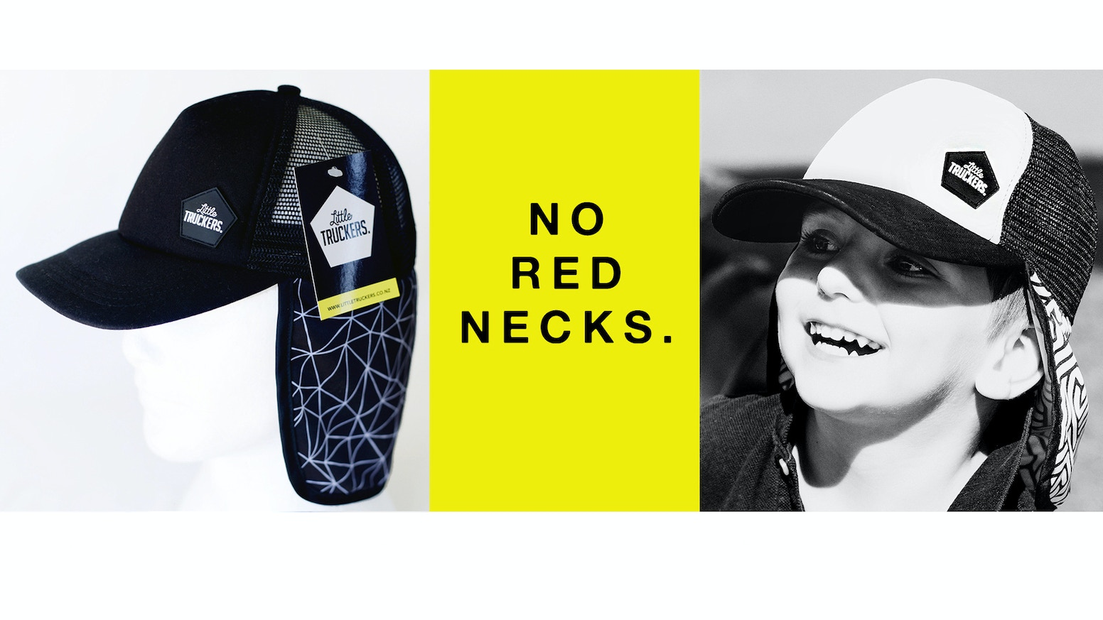 b9bf20f7089dc Kids trucker caps with flaps. Protect little ears   necks with Little  Truckers. Designed with neck ear flap