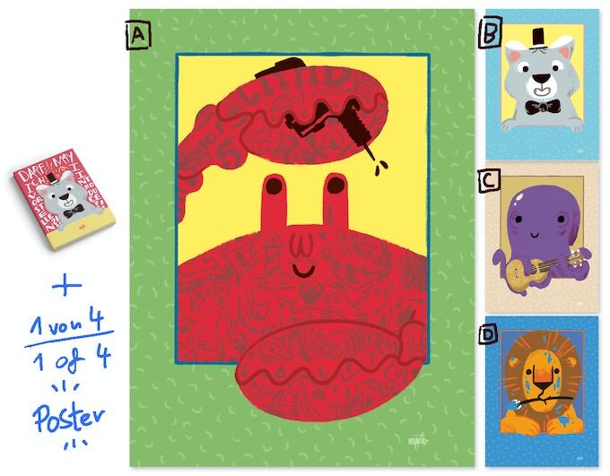 Wähle aus einem von drei Postermotiven // Choose from one of three poster motives
