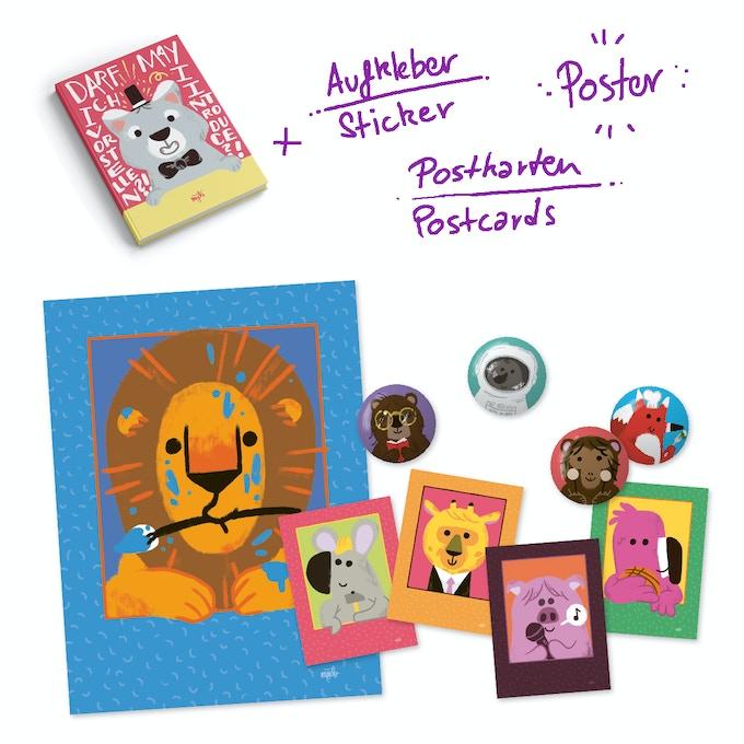 Poster, Postkarten und 4 Aufkleber // Poster, postcards and 4 sticker