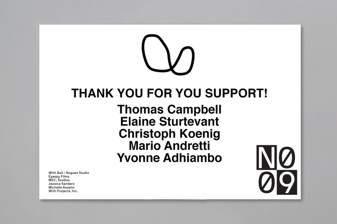 Contribute $9 or more to be a part of No. 9's Virtual Crew and be thanked on the project webpage