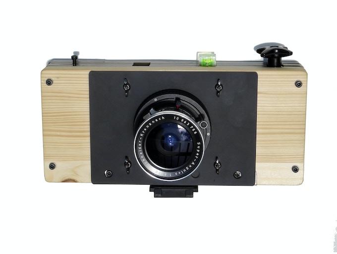 Twofouurths 617+e camera diy kit,  Schneider Super-Angulon 90mm  f/8