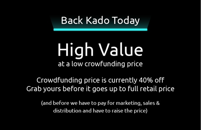 You Should Be Confident In KADOs Success For The Same Reason We Are Know What Were Doing Have A Proven Track Record Of End To Product