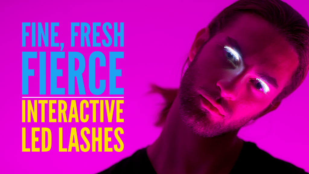 f.lashes - Fun, Interactive, LED Lashes! project video thumbnail