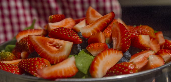 It's not a Strawberry Salad unless it has copious amounts of strawberries.