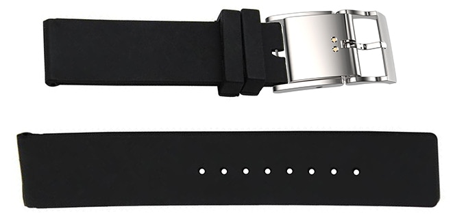 Smart Buckle with black Silicon Strap