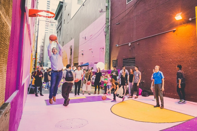 Alley Oop - Vancouver's first activated alleyway