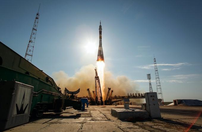 Baikonur launch pad