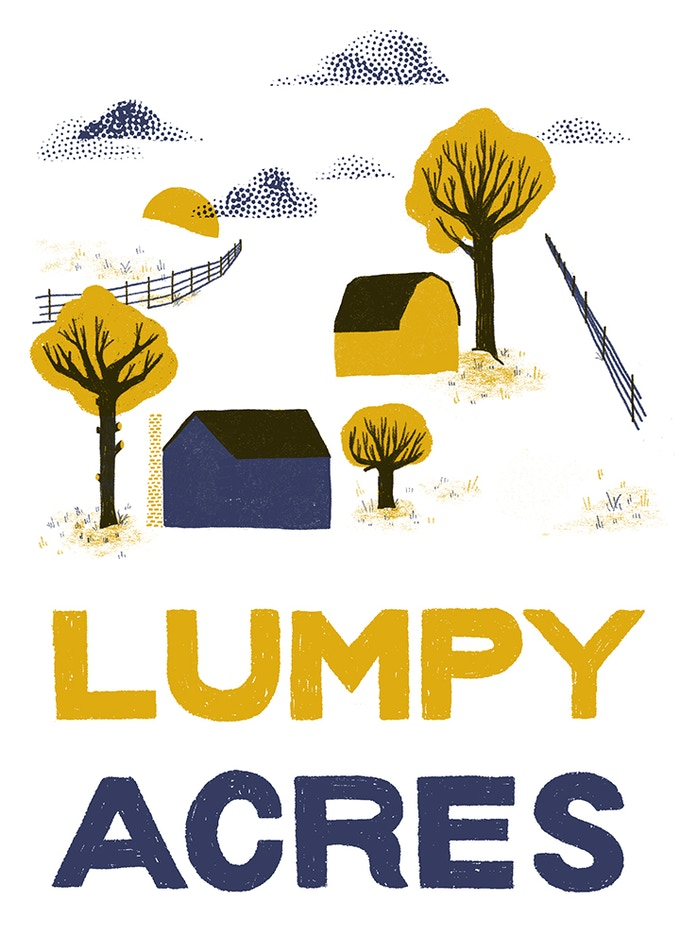 5x7 mini print that will be included with every copy of Lumpy Acres!