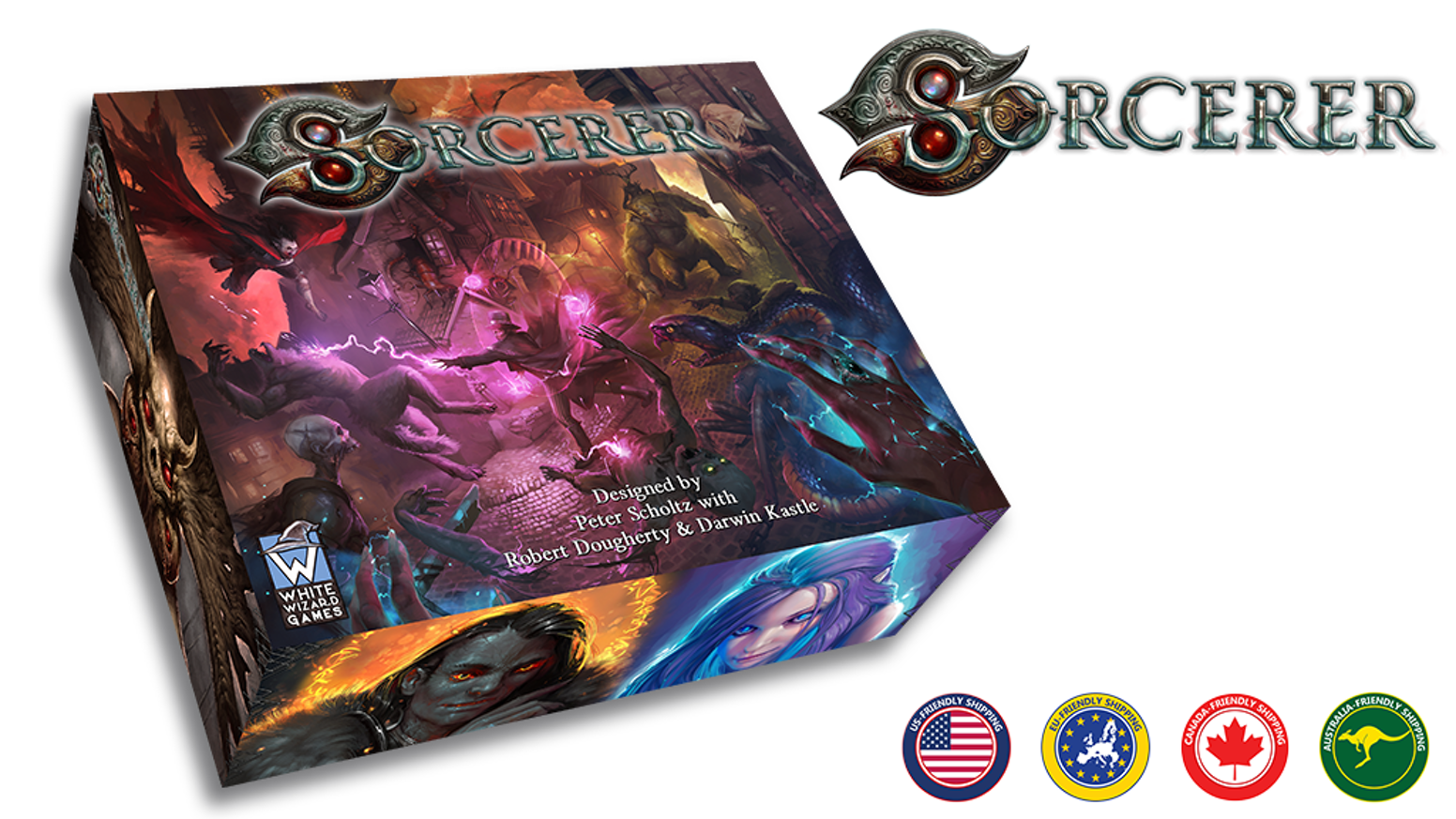 Sorcerer is a dark fantasy game that melds the best elements of a strategy card game with a tactical board game.