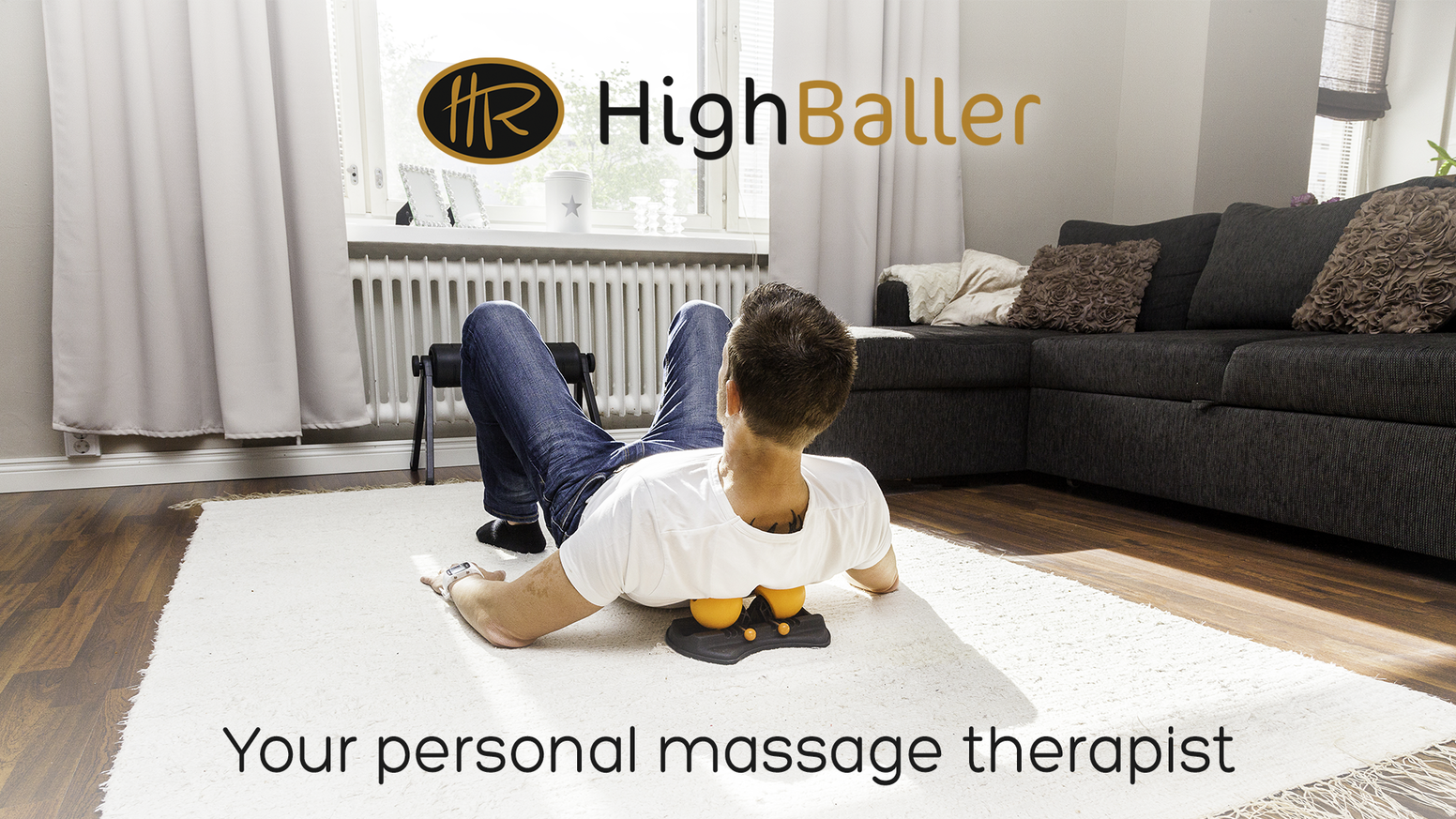 An adjustable massage device engineered for ergonomic and 