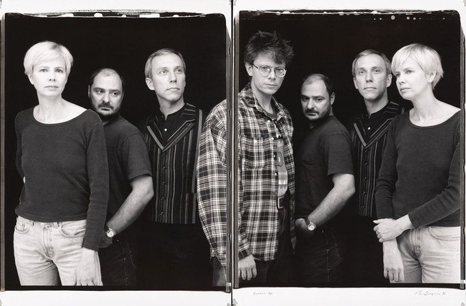 William Wegman's 1996 diptych portrait of the Kronos Quartet.