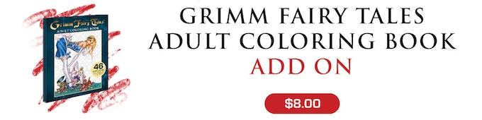 Grimm Fairy Tales Coloring Book Boxed Set by Joe Brusha