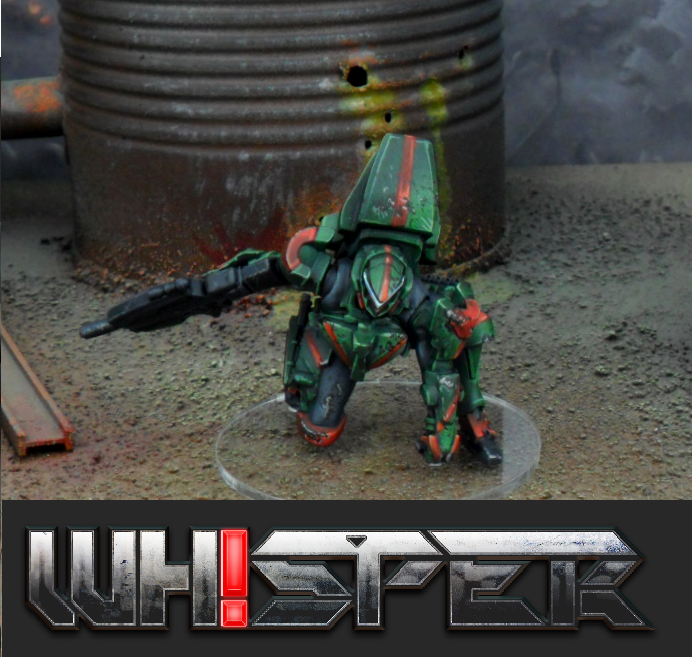 Creating detailed 45-60mm resin mecha miniatures for the WHISPER wargame and mecha enthusiasts of all stripes.