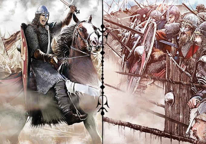Norman Cavalry, Saxon Shieldwall