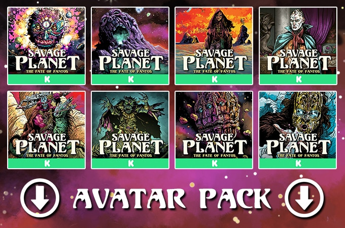 Click here to download Savage Planet avatars to help spread the word.