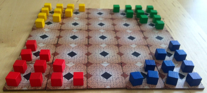 "Perhaps most known in the form of ""Chinese Checkers"", this intriguing game has no luck, but plenty of unpredictability when all players try to optimise their route towards their target."