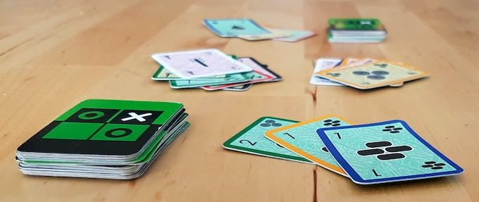 "Perhaps stretching the ""traditional"" category a bit, but this fast-paced card game can be played with a standard deck of cards and several custom ones."