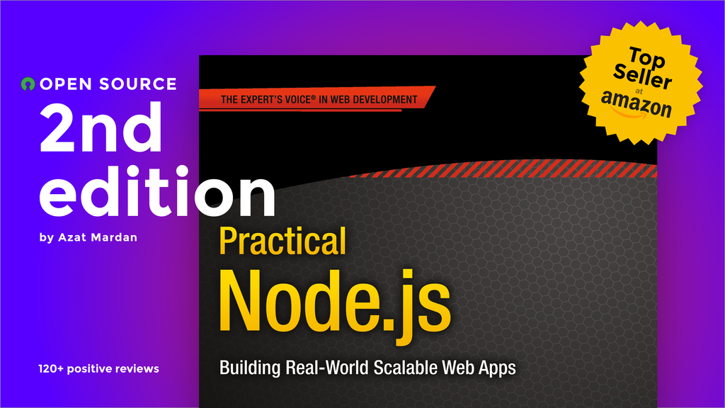 Practical Node.js Book, 2nd Edition, Open-Sourced on GitHub project video thumbnail
