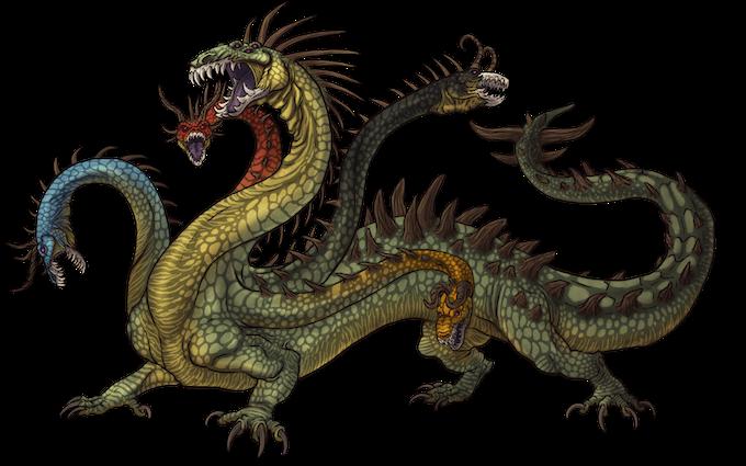 elemental hydra (New monster)