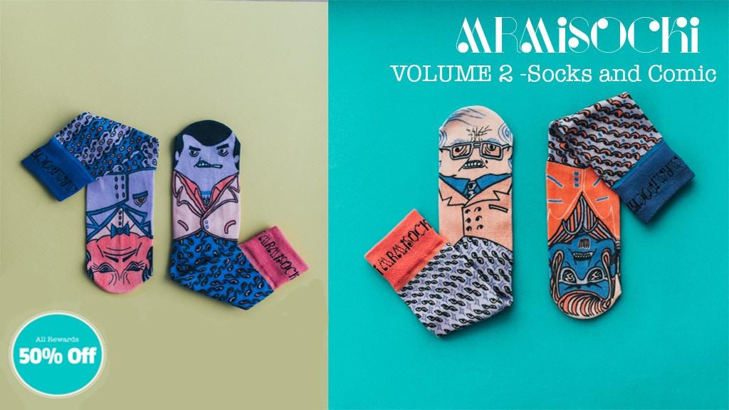 MrMiSocki Volume 2 - Comic Inspired Mismatched Socks project video thumbnail