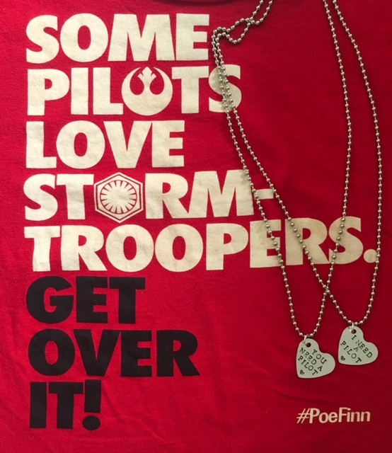 "StormPilot t-shirt & hand-stamped ""You need a pilot // I need a pilot"" necklaces"